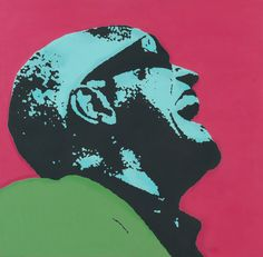 Ray Charles, oil and acrylic on canvas, Martin Torsleff, www.pop-art.dk