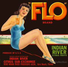 """""""FLO"""" Brand Citrus. Indian River Citrus Fruits. Produce of U.S.A. Packed under…"""