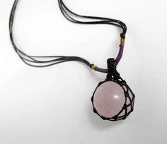 """SANAM-""""Rose Quartz Ball"""" Necklace"""