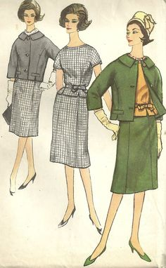 Vintage 1960s Sewing Pattern, Women's Kimono Sleeve Blouse, Slim Skirt and Box-Cut Jacket by MaisonMignot
