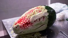 Watch This Watermelon Become A Terrifying Dragon