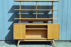 RARE HEYWOOD WAKEFIELD ROOM DIVIDER Mid-Century Modern Vintage design eames