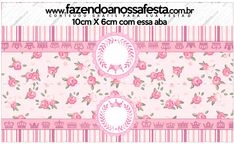 Saquinho de Balas Coroa de Princesa Rosa Floral
