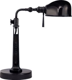 Limited Production Design Limited Stock: Ralph Lauren Classic Task Desk Lamp * Black  * H: 16 inches * Partner Floor Lamps & Bedside Wall Reading Lights Available