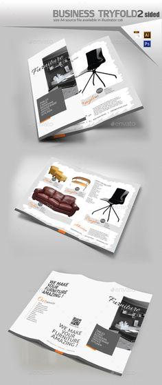 BiFold Brochure Template Psd Vector Eps Ai Illustrator