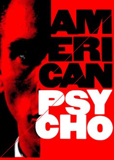Horror Movie Posters, Horror Movies, Pat Bateman, Vintage Films, American Psycho, Cinematography, Weird, Tray, Fan Art