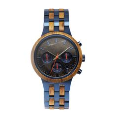 Case: Wood + stainless steel Dial: Marble Band: Wood + stainless steel Movement: Seiko VD53 Watch Companies, Wooden Watch, Mechanical Watch, Stainless Steel Watch, Automatic Watch, Quartz Watch, Watches, Things To Sell, Seiko