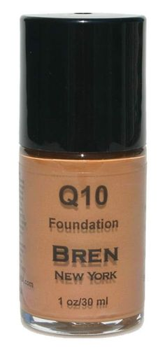 Foundation with Coq10 Sepia Minimizes Fine Lines and Smooth Out Wrinkles. Instant Face Lift. Anti-Aging Foundation. Minimizes Fine Lines. Provides Medium To Full Coverage.