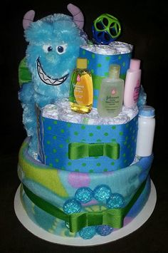 Hey, I found this really awesome Etsy listing at https://www.etsy.com/listing/169265509/monsters-inc-diaper-cake