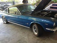 Ford : Mustang mustange fastback gt 1965 ford mustange fastback 2 2 manual 4 speed ca car rust free a code gt