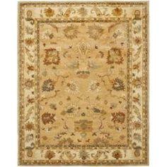 Safavieh Handmade Zeigler Taupe/ Ivory Hand-spun Wool Rug (8' x 10') $507.44