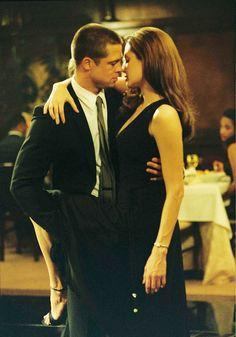 Brad and Angelina dirty dancing