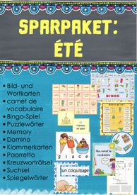 Sparpaket: été – Unterrichtsmaterial im Fach Französisch Teaching French, Periodic Table, Games, Teaching French Immersion, Writing Styles, Play Based Learning, Picture Cards, Spelling, Teaching Materials