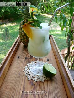 When I first made that fabulous coconut pineapple mixer to make my Hawaiian Fizz cocktail, I didn't realize just how MUCH mixer it makes! I made drinks for everyone at my Hawaiian Luau cookin…
