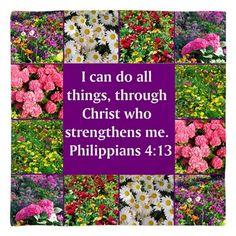 PHILIPPIANS 4:13 Bandana http://www.cafepress.com/heavenlyblessings/12256745 #Philippians #Philippians413 #Philippians4 #LettertoPhilippians #Philippians4scriptureverse  #Icandoallthings #Christwhostrenghtensme