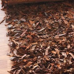 Thick Textured Natural Area Rug Looks like fallen leaves to Me ... ;)