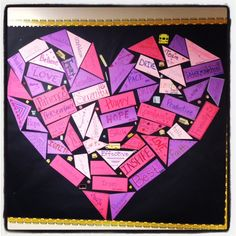 Galena Park Elementary - One Word That Will Change Your Life based on the book by John Gordon. What a great idea for finding a positive focus for 2014 February Bulletin Boards, Valentine Bulletin Boards, Classroom Bulletin Boards, Classroom Decor, School Holidays, School Fun, Sunday School, Teacher Boards, One Word