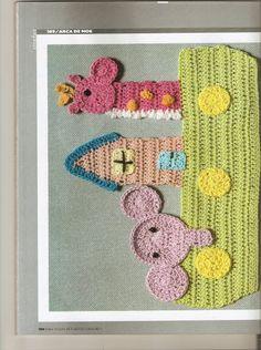 Crochet animals or noahs ark applique