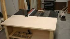Image result for table saw outfeed table