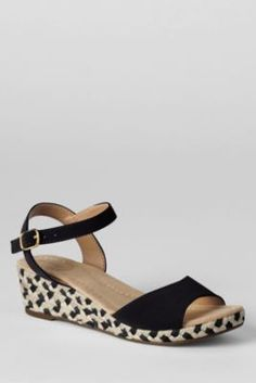 these look like the perfect summer sandal --> Women's Reese Low Wedge Sandals from Lands' End