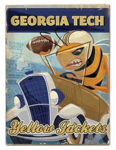 Georgia Tech by Thomas Burns, via Behance www.AtlantaVintageTravel.com #GeorgiaTech $25