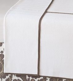 Wilke White/clay Coverlet from Eastern Accents