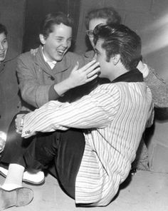 """Elvis with fans at Ottawa press conference, April 3, 1957)  -   An Interview with Alan Hanson, author of """"Elvis '57: The Final Fifties Tours""""    http://www.elvis-history-blog.com/interview.html#"""