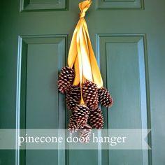 pinecone door hanger