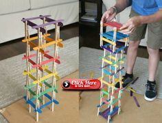 Build towers of natural materials, such as clothes pegs and wooden spatulas - Kinder Spiele - Diy For Kids, Crafts For Kids, Wooden Spatula, Diy Crafts To Do, Clothes Pegs, Montessori Toys, Fine Motor Skills, Preschool Crafts, Creative Gifts