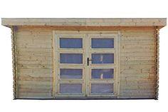 Gartenhaus / Blockhütte Fonteyn Judith 400 x 300 cm Flachdach Unbehandelt
