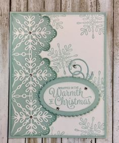 Tamie Ackerson, Stampin' Up Demonstrator, Stamped Christmas Cards, Homemade Christmas Cards, Stampin Up Christmas, Xmas Cards, Homemade Cards, Handmade Christmas, Holiday Cards, Christmas 2017, Snowflake Cards