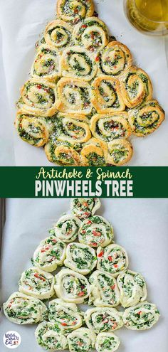 These super easy, nutritious & delicious artichoke spinach pinwheels are perfect appetizers for the holiday season. You can arrange them in the shape of the Christmas tree for Christmas appetizers. Quick preparation with tons of flavors. Best Christmas Recipes, Christmas Party Food, Xmas Food, Christmas Cooking, Holiday Recipes, Christmas Tree, Fall Recipes, Snacks For Christmas, Christmas Dinner Dessert Ideas
