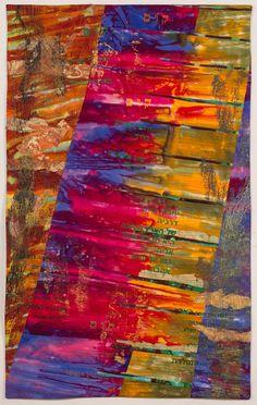 """Negev View 3, 45 x 28"""", by  Bella Kaplan  (Israel).  SAQA."""