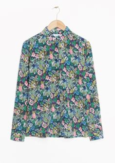 & Other Stories image 2 of Silk Shirt in Prairie Blossom Print