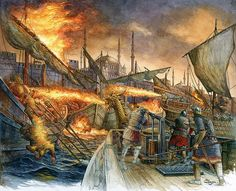Greek Fire outside of Constantinople