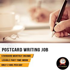just spend hours per day for legible part time work of post card  postcard writing job please us ntsinfotech com