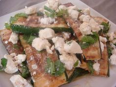 courgette mint and feta salad