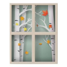 Shop Papercut Aspen Trees in Autumn Window Faux Canvas Print created by SayHello. Classroom Window Display, Classroom Window Decorations, School Decorations, Autumn Window Display Retail, Decoration Christmas, Thanksgiving Decorations, Fall Decor, Autumn Decorating, Faux Window