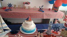 Topo de bolo - festa marinheiro