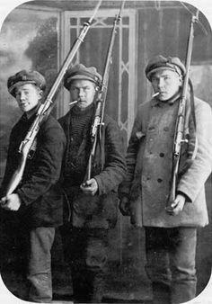 Unknown Red Soldiers, Finnish Civil War, 1918.