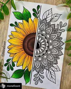 Easy Mandala Drawing, Flower Art Drawing, Simple Mandala, Doodle Art Drawing, Easy Mandala Designs, Mandala Art Therapy, Mandala Art Lesson, Mandala Artwork, Mandala Painting
