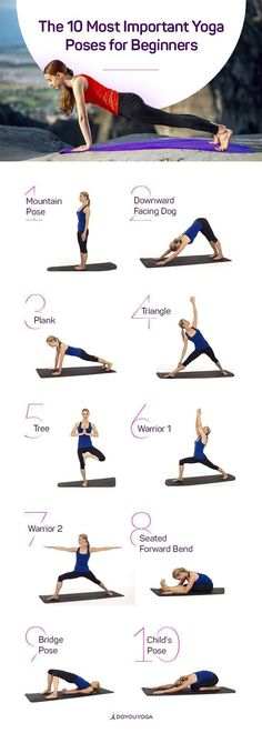 New to yoga? Check out the 10 Most Important Yoga Poses for Beginners | DOYOUYOGA.com | #yoga #yogaposes http://www.yogaweightloss.net/best-yoga-position/ #YogaSequences