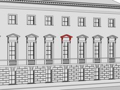 Сандрик – декоративная деталь в виде небольшого карниза или фронтона над оконным или дверным проемом. В классицистической архитектуре в основном использовались сандрики в виде треугольного фронтона или прямого карниза, поддерживаемые кронштейном.