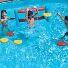 Swimming pool games aren't complete without the Disc Toss Target Goal Game! This disc toss game comes complete with an inflatable pool goal and 6 colorful discs for easy tossing! Comes complete with 1 goal and 6 colorful tossing discs Goal measures Swimming Pool Games, Kids Swimming, Pool Fun, Fun Water Games, Summer Pool, Summer Fun, Summer Time, Summer 2014, Pool Activities