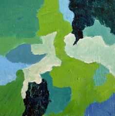 Original Green abstract art green and blue by garimadesigns
