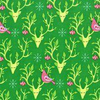 Evergreen Festive Nest - 1/2 yard
