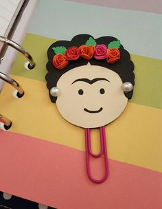 Fan art Frida Kahlo inspired planner paperclip| Planner Addict| Planner Accessories