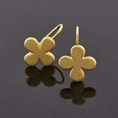 22ct gold earrings inspired by 6th century Byzantine cross.