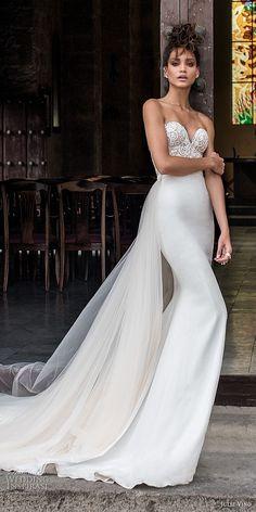 julie vino fall 2018 havana strapless sweetheart neckline heavily embellished elegant sheath wedding dress chapel train (9) mv -- Julie Vino Fall 2018 Wedding Dresses