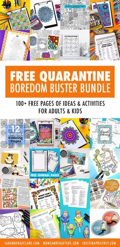 This free bundle includes pages of boredom-busting fun for you and the kids. Coloring pages, activity ideas and more to help you during isolation. Printable Coloring Pages, Coloring Pages For Kids, Coloring Books, Kids Coloring, Coloring Tips, Printable Activities For Kids, Free Printables, Free Activities, Boredom Busters For Adults
